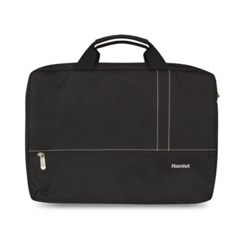 Hamlet Borsa porta Notebook Smart Travel fino a 17,3'' con robusta imbottitura colore nero nylon