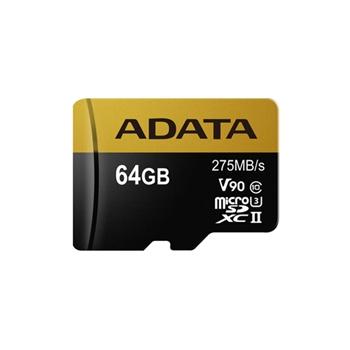 ADATA AUSDX64GUII3CL10-CA1 Adata microSDXC 64GB Class 10 read/write 275/155MBps