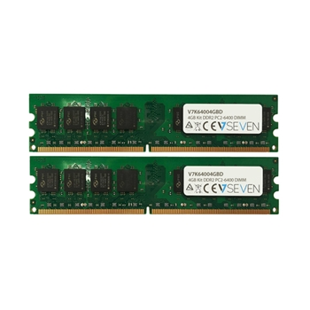 V7 2X2GB KIT DDR2 800MHZ CL6 NON ECC DIMM PC2-6400 1.8V LEG