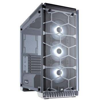 CORSAIR Crystal Series 570X RGB Tempered Glass Premium ATX Mid Tower Case White