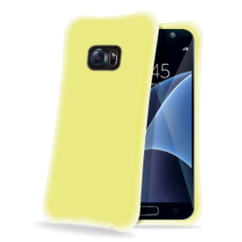 Celly Ice Cube custodia per cellulare Cover Traslucido, Giallo