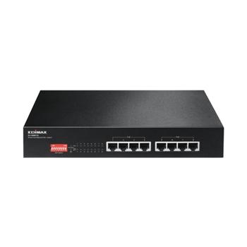 EDIMAX ES-1008P V2 Edimax 8x 10/100 PoE+ Switch, 802.3at/af, 130W budget (30W/port), DIP Switch