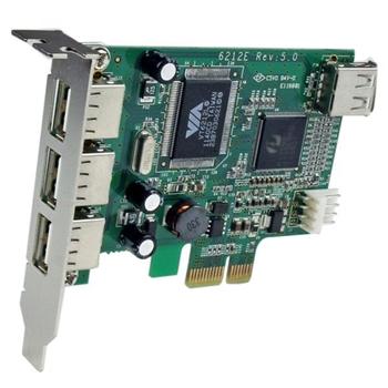 StarTech.com Scheda Pci Express basso prfilo con 4 porte USB 2.0 ad alta velocità
