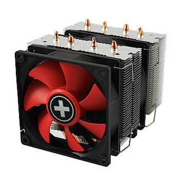 Xilence XC044 ventola per PC Processore Refrigeratore 9,2 cm Nero, Rosso