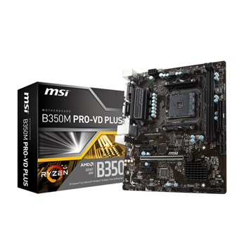 MSI B350M PRO-VD PLUS scheda madre Presa AM4 Micro ATX AMD B350