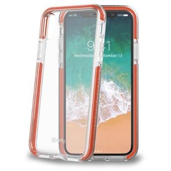 """Celly HEXAGON900OR custodia per cellulare 14,7 cm (5.8"""") Cover a guscio Arancione, Trasparente"""