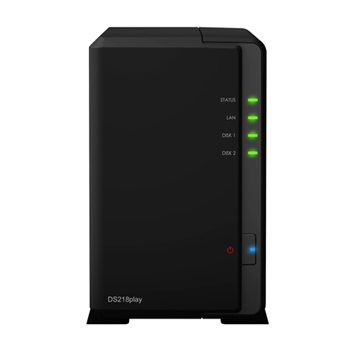 Synology DiskStation DS218play Collegamento ethernet LAN Compatta Nero NAS