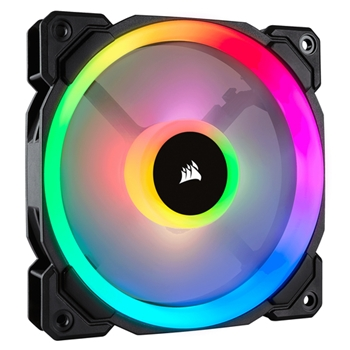 CORSAIR Fan LL120 RGB 120mm Dual Light Loop RGB LED PWM Fan Single pack