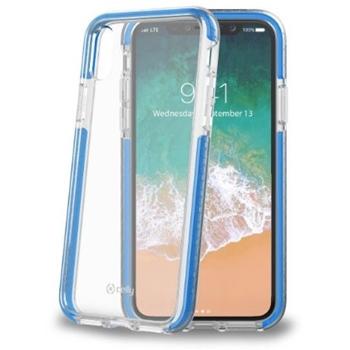 "Celly HEXAGON900LB custodia per cellulare 14,7 cm (5.8"") Cover a guscio Blu, Trasparente"
