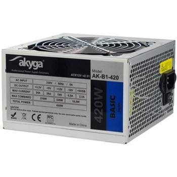 Akyga AK-B1-420 alimentatore per computer 420 W 20+4 pin ATX ATX Grigio