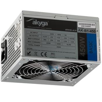 Akyga AK-B1-450 alimentatore per computer 450 W 20+4 pin ATX ATX Grigio