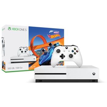 Microsoft Bundle Xbox One S + Forza Horizon 3 + DLC Hot Wheels 500GB 500GB Wi-Fi Bianco