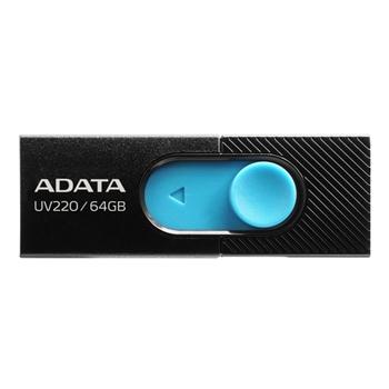 ADATA AUV220-64G-RBKBL Flash Drive UV220 64GB USB 2.0 black and blue