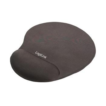 LOGILINK ID0027 LOGILINK - Gel mouse pad with wrist rest support, black