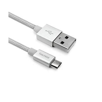 Vultech SC10751-W20 cavo USB 2 m 2.0 USB A Micro-USB B Argento, Bianco