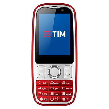 "TIM Easy 4G 6,1 cm (2.4"") 0,5 GB 2 GB SIM singola Rosso, Argento 1550 mAh"