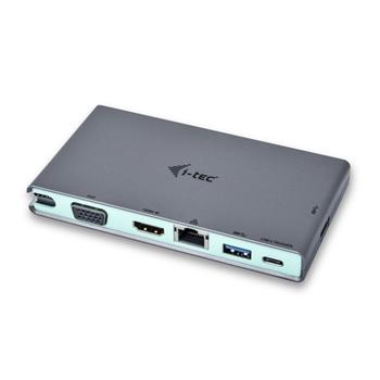 i-tec C31TRAVELDOCKPD replicatore di porte e docking station per notebook Cablato USB 3.2 Gen 1 (3.1 Gen 1) Type-C Grigio, Turchese