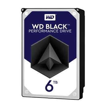 WD Desktop Black 6TB HDD 7200rpm 6Gb/s serial ATA sATA 256MB cache 3.5inch intern RoHS compliant Bulk