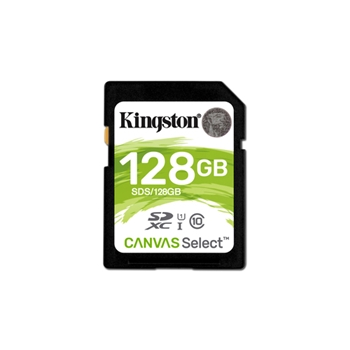 KINGSTON 128GB SD Canvas Select Class 10 UHS-I speed upto 80MB/s read flash card