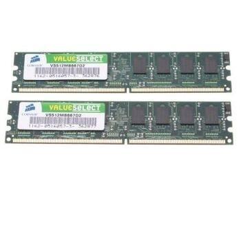 memory D2 667 2GB C5 Corsair VS K2 2x1GB Value Select
