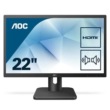 AOC 22E1D Monitor 21.5inch D-Sub/HDMI/DVI speakers