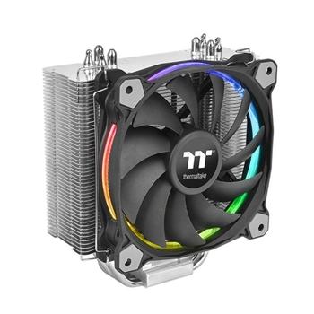 Thermaltake Riing Silent 12 RGB Sync Edition Processore Refrigeratore 12 cm Nero, Metallico