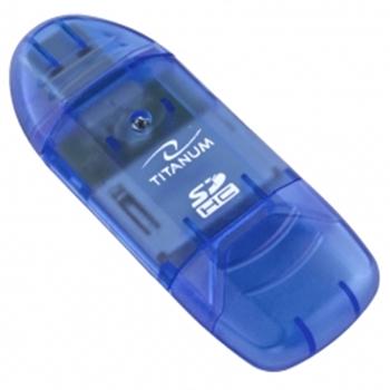 TITANUM TA101B lettore di schede Blu USB 2.0