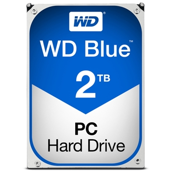 WD Blue 2TB SATA 6Gb/s HDD internal 3.5inch serial ATA 64MB cache 5400 RPM RoHS compliant Bulk