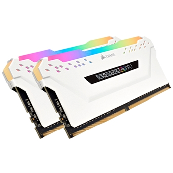 CORSAIR 16GB RAMKit 2x8GB DDR4 3600MHz 2x288Dimm Unbuffered 18-19-19-39 Vengeance RGB Pro White Heat Spreader RGB LED 1,35V XMP2.0