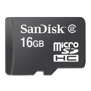 Sandisk 16GB MicroSDHC w/adapter memoria flash Classe 4