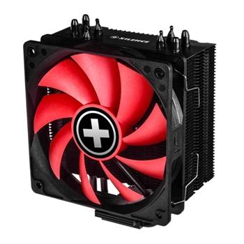 Xilence M704 Processore Refrigeratore 12 cm Nero, Rosso