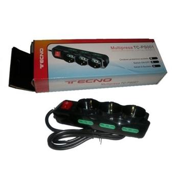 Tecno TC-MP01 prolunghe e multiple 1,3 m 9 presa(e) AC Interno Nero