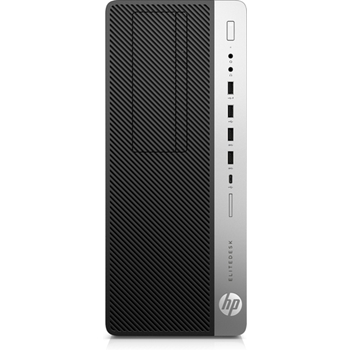 HP EliteDesk 800 G4 Intel® Core™ i5 di ottava generazione i5-8500 8 GB DDR4-SDRAM 256 GB SSD Nero, Argento Torre PC