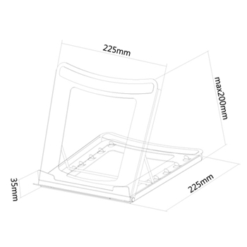 NEOMOUNTS BY NEWSTAR Notebook Tablet Stand deskstand max 5kg 15inch Tilt black