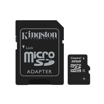 Memory card SD-Micro 32GB Kingston HC4 + ADATTATORE SD