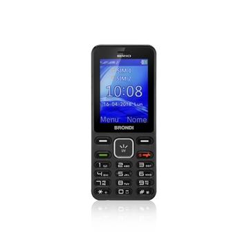 """Brondi brio 6,1 cm (2.4"""") 69 g Nero, Titanio Telefono di livello base"""