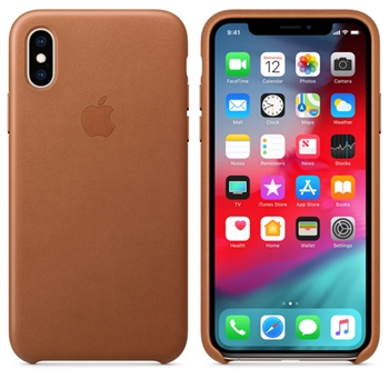 APPLE iPhone XS Leath. Case Saddle Brown (P)