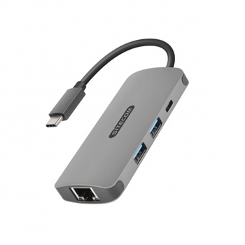Sitecom CN-378 cavo di interfaccia e adattatore USB-C RJ45, USB-C, 2x USB 3.0 Grigio