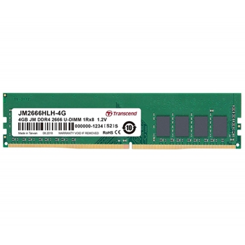 TRANSCEND 4GB JM DDR4 2666 U-DIMM 1Rx8 512Mx8 CL19 1.2V
