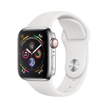 Apple Watch Series 4 smartwatch Acciaio inossidabile OLED Cellulare GPS (satellitare)