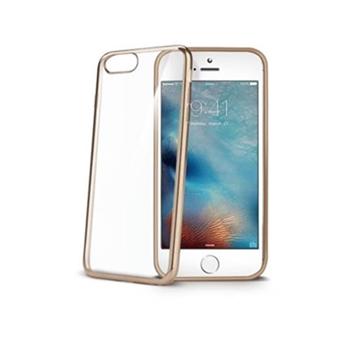 """Celly LASER800GD custodia per cellulare 11,9 cm (4.7"""") Cover Oro, Trasparente"""