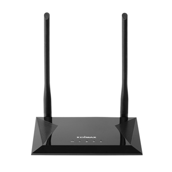 Edimax N300 router wireless Banda singola (2.4 GHz) Fast Ethernet Nero