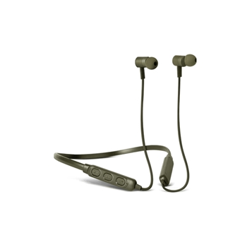 Fresh 'n Rebel Band-It Cuffie auricolari Bluetooth con Ncekband per telefono cellulare Stereofonico, verde militare