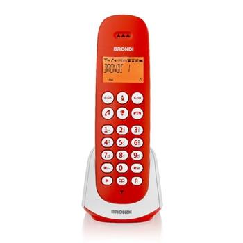 Brondi Adara Telefono DECT Rosso, Bianco Identificatore di chiamata