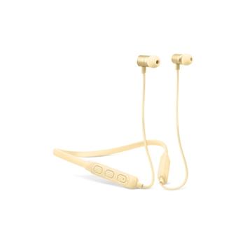 Fresh 'n Rebel Band-It Cuffie auricolari Bluetooth con Ncekband per telefono cellulare Stereofonico, giallo