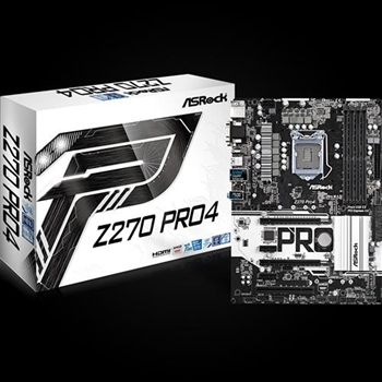 ASRock Z270 Pro4, INTEL Z270 Series,LGA1151,4 DDR4,3 x M.2(2forSSD, 1for Wi Fi)