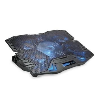 """Supporto Per Notebook Fino a 15,6"""" Vultech SN-05 Con 4 Ventole 7Cm e 1 Ventola 14cm Porte Usb LCD"""