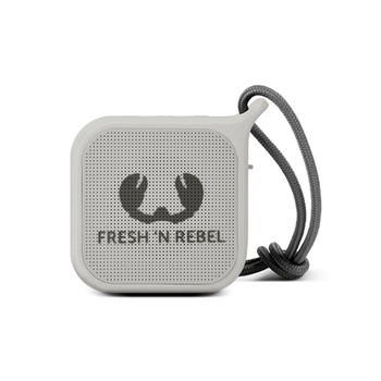 Fresh 'n Rebel Rockbox Pebble 1RB0500CL - Altoparlante portatile Bluetooth splashproof, grigio chiaro