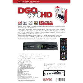 Digiquest DGQ690 HD set-top box TV Nero