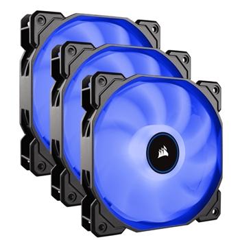 CORSAIR AF120 LED High Airflow Fan 120mm low noise triple pack blue